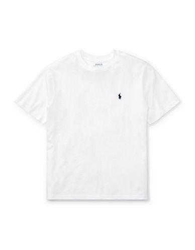 Ralph Lauren Childrenswear Jersey Cotton Tee-WHITE-Large