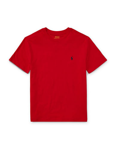 Ralph Lauren Childrenswear Jersey Cotton Tee-RED-X-Large