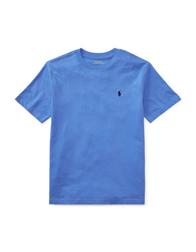 Ralph Lauren Childrenswear Jersey Cotton Tee-BLUE-Large