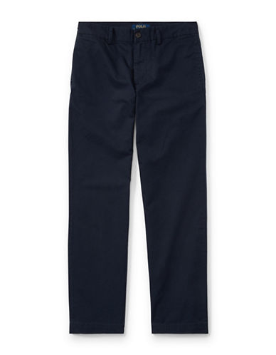 Ralph Lauren Childrenswear Slim-Fit Cotton Chinos-BLUE-12