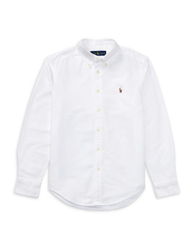 Ralph Lauren Childrenswear Cotton Oxford Sport Shirt-WHITE-Small
