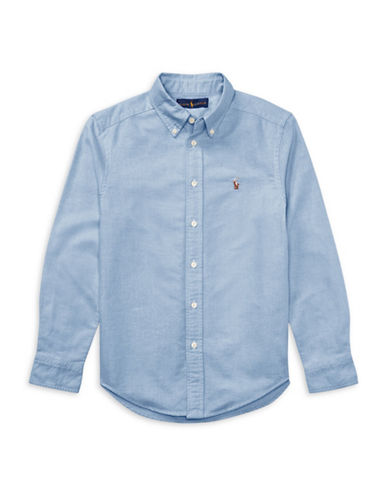 Ralph Lauren Childrenswear Cotton Oxford Sport Shirt-BLUE-Medium