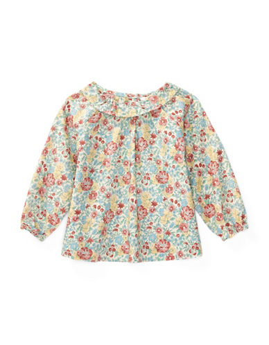 Ralph Lauren Childrenswear Floral Printed Cotton Top-PINK-9 Months