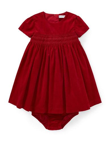 Ralph Lauren Childrenswear Corduroy Dress and Bloomer Two-Piece Set-RED-18 Months