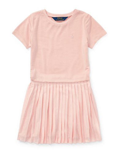 Ralph Lauren Childrenswear Fit & Flare Pleated Dress-PINK-3