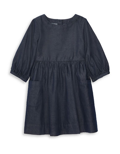 Ralph Lauren Childrenswear Twill Cotton Denim Dress-NAVY-4