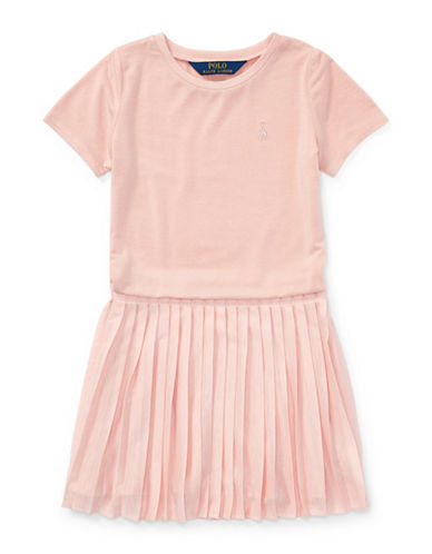 Ralph Lauren Childrenswear Tee-and-Skirt Dress-PINK-5