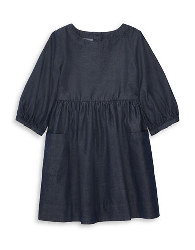 Ralph Lauren Childrenswear Cotton Twill Dress-NAVY-6X