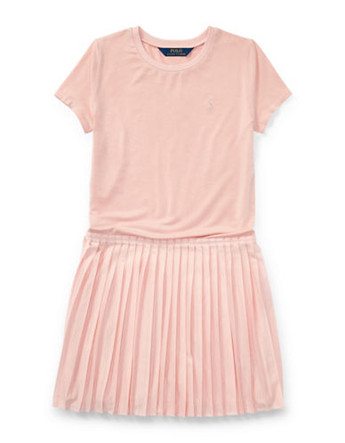 Ralph Lauren Childrenswear Tee-and-Skirt Dress-PINK-Large