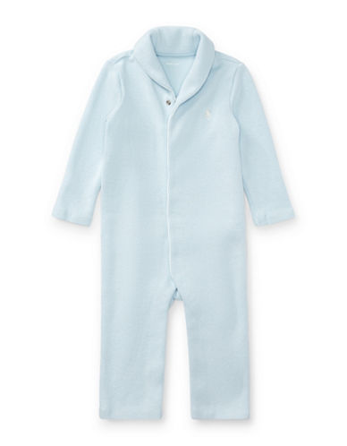 Ralph Lauren Childrenswear French-Rib Cotton Coverall-LIGHT BLUE-9 Months