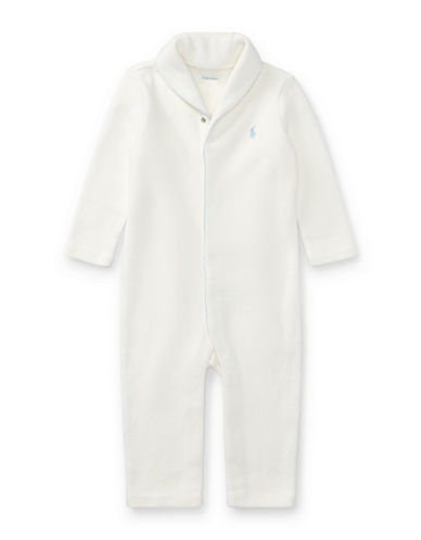 Ralph Lauren Childrenswear French-Rib Cotton Coverall-WHITE-12 Months