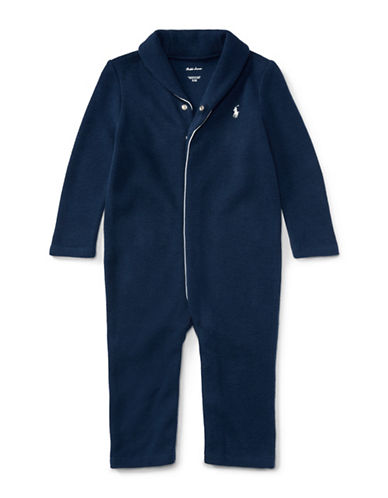 Ralph Lauren Childrenswear French-Rib Cotton Coverall-BLUE-6 Months