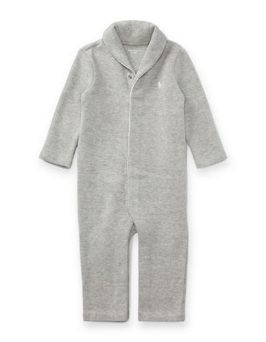 Ralph Lauren Childrenswear French-Rib Cotton Coverall-GREY-3 Months