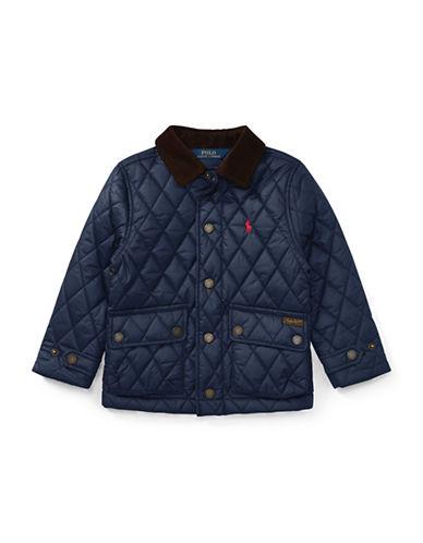 Ralph Lauren Childrenswear Quilted Barn Jacket-BLUE-2T