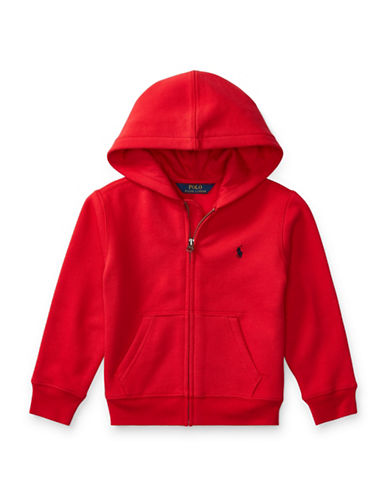 Ralph Lauren Childrenswear Fleece Hoodie-RED-2T