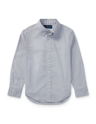 Ralph Lauren Childrenswear Performance Oxford Sport Shirt-GREY-2
