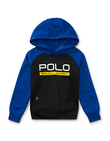 Ralph Lauren Childrenswear Tech Fleece Hoodie-BLACK-4T