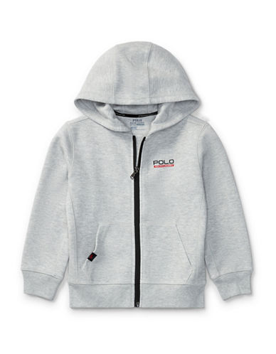 Ralph Lauren Childrenswear Tech Fleece Full-Zip Hoodie-GREY-2T