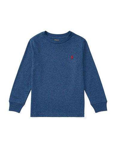 Ralph Lauren Childrenswear Long-Sleeve Cotton Jersey T-Shirt-BLUE-2T