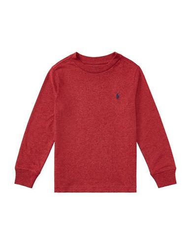 Ralph Lauren Childrenswear Long-Sleeve Cotton Jersey T-Shirt-RED-4T