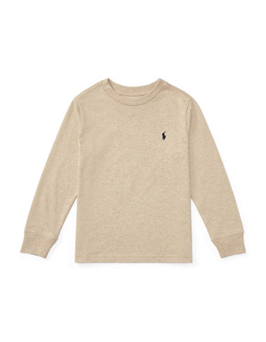 Ralph Lauren Childrenswear Long-Sleeve Cotton Jersey T-Shirt-BEIGE-4T