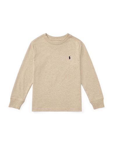 Ralph Lauren Childrenswear Long-Sleeve Cotton Jersey T-Shirt-BEIGE-2T