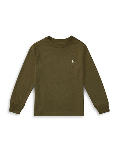 Ralph Lauren Childrenswear Long-Sleeve Cotton Jersey T-Shirt-GREEN-2T