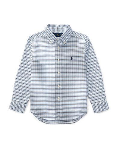 Ralph Lauren Childrenswear Checked Oxford Sport Shirt-BLUE-6