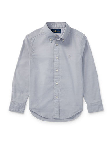 Ralph Lauren Childrenswear Performance Oxford Sport Shirt-GREY-7