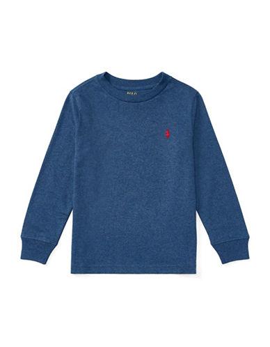 Ralph Lauren Childrenswear Long-Sleeve Cotton Jersey T-Shirt-BLUE-5