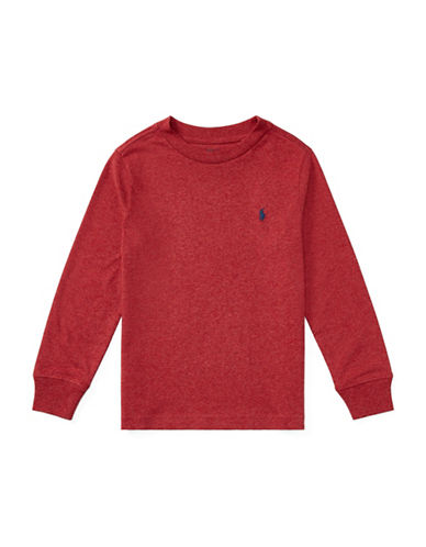 Ralph Lauren Childrenswear Long-Sleeve Cotton Jersey T-Shirt-RED-7