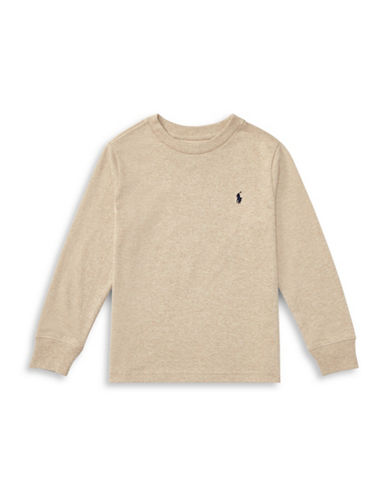 Ralph Lauren Childrenswear Long-Sleeve Cotton Jersey T-Shirt-BEIGE-5