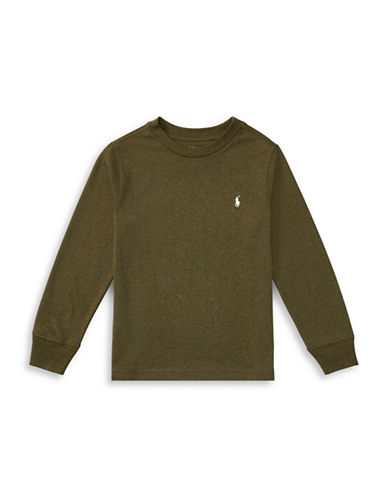 Ralph Lauren Childrenswear Long-Sleeve Cotton Jersey T-Shirt-GREEN-6