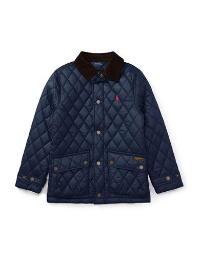 Ralph Lauren Childrenswear Quilted Barn Jacket-BLUE-X-Large 89477518_BLUE_X-Large