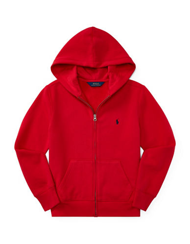 Ralph Lauren Childrenswear Fleece Hoodie-RED-X-Large