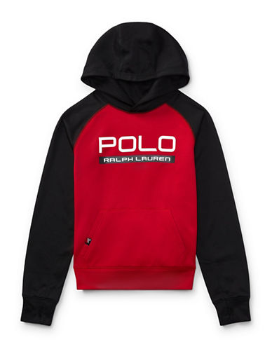 Ralph Lauren Childrenswear Tech Fleece Hoodie-RED-Large