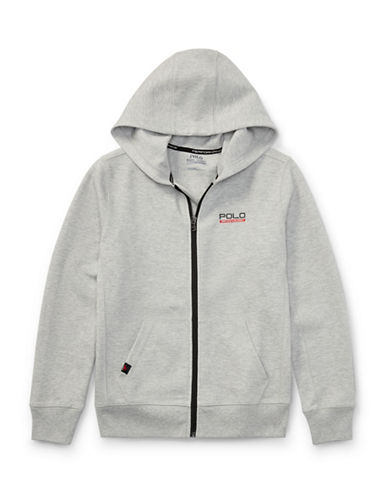 Ralph Lauren Childrenswear Tech Fleece Full-Zip Hoodie-GREY-Large