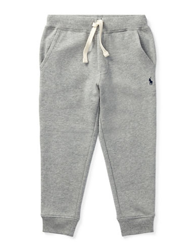 Ralph Lauren Childrenswear Fleece Jogger Pants-GREY-4T
