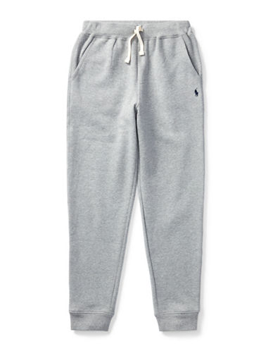 Ralph Lauren Childrenswear Fleece Jogger Pants-GREY-Large