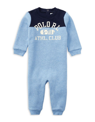 Ralph Lauren Childrenswear Fleece Coverall-BLUE-9 Months