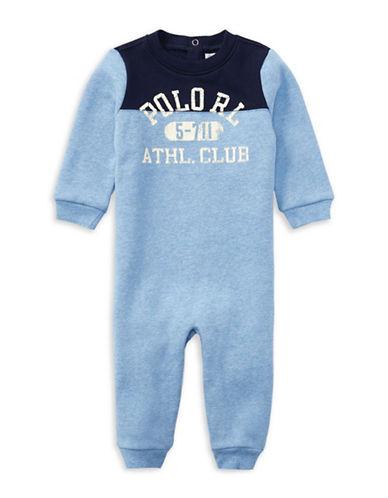Ralph Lauren Childrenswear Fleece Coverall-BLUE-6 Months