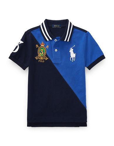 Ralph Lauren Childrenswear Colourblock Cotton Mesh Polo-BLUE-3T 89376511_BLUE_3T