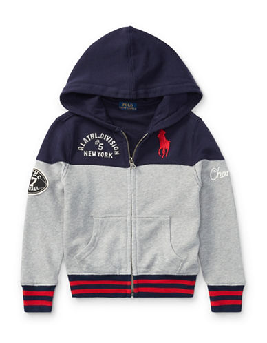Ralph Lauren Childrenswear Cotton French Terry Hoodie-GREY-3T