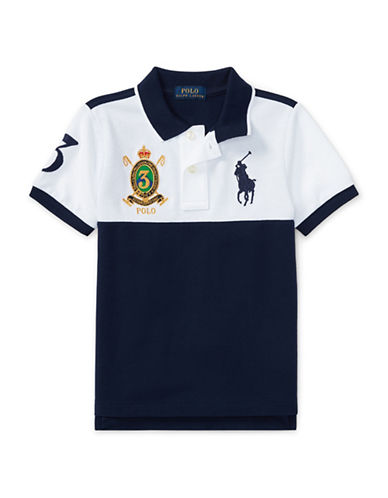 Ralph Lauren Childrenswear Colourblock Cotton Mesh Polo-WHITE-4