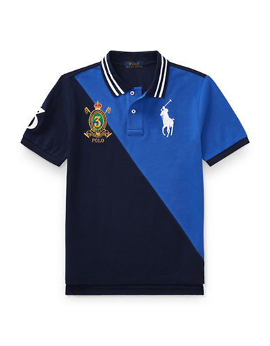 Ralph Lauren Childrenswear Colourblock Cotton Mesh Polo-BLUE-Medium
