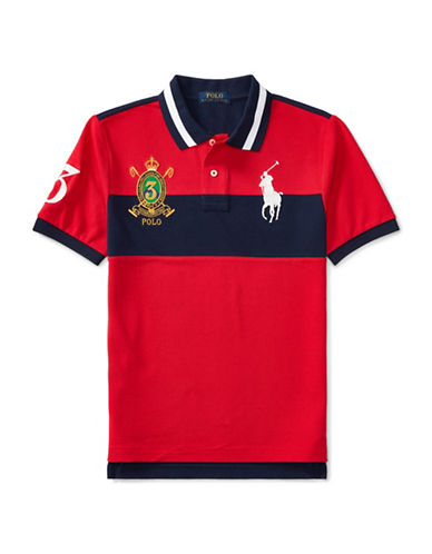 Ralph Lauren Childrenswear Big Pony Cotton Mesh Polo-RED-Small
