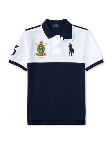 Ralph Lauren Childrenswear Colourblock Cotton Mesh Polo-WHITE-Large