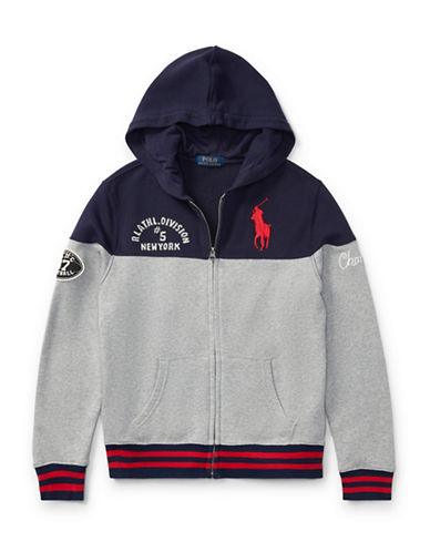 Ralph Lauren Childrenswear Cotton French Terry Hoodie-GREY-X-Large 89477531_GREY_X-Large