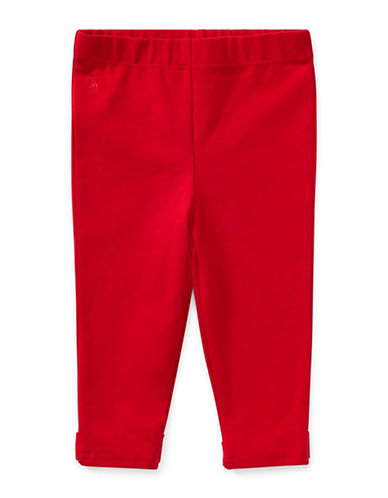 Ralph Lauren Childrenswear Elasticized Leggings-RED-12 Months
