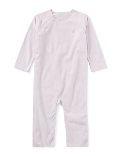 Ralph Lauren Childrenswear Lux Fleece Coverall-PINK-3 Months